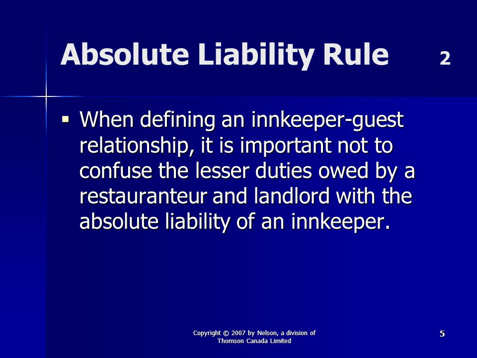 Absolute Liability Rule 2