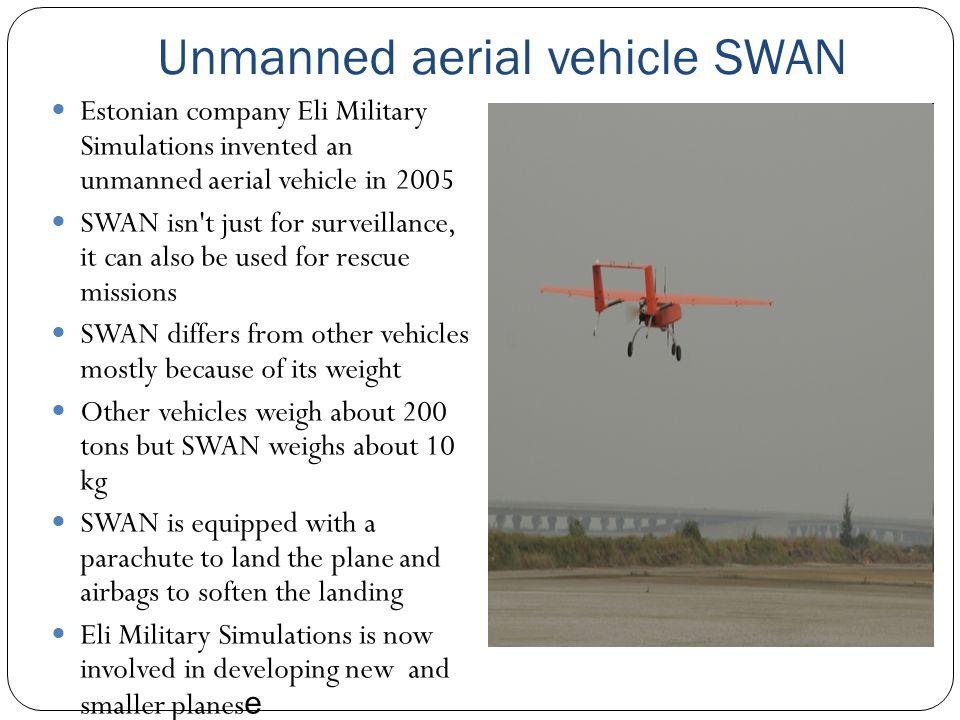 Unmanned aerial vehicle SWAN