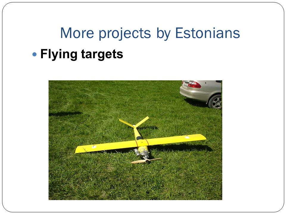 More projects by Estonians