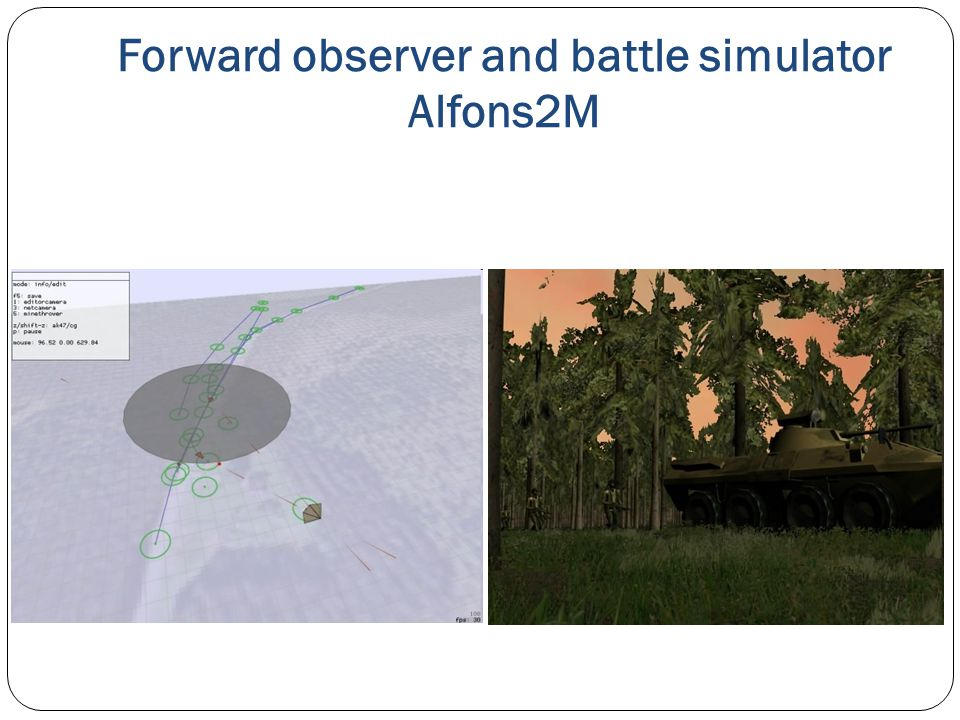 Forward observer and battle simulator Alfons2M