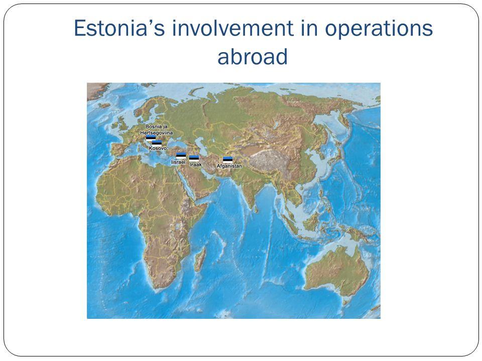 Estonia's involvement in operations abroad