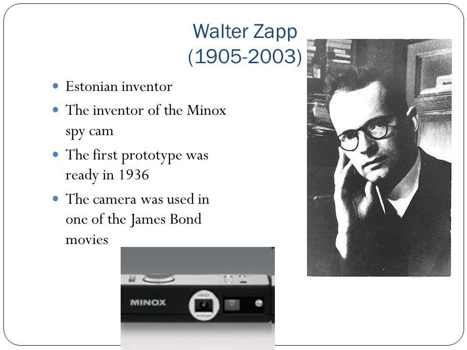 Walter Zapp (1905-2003) Estonian inventor