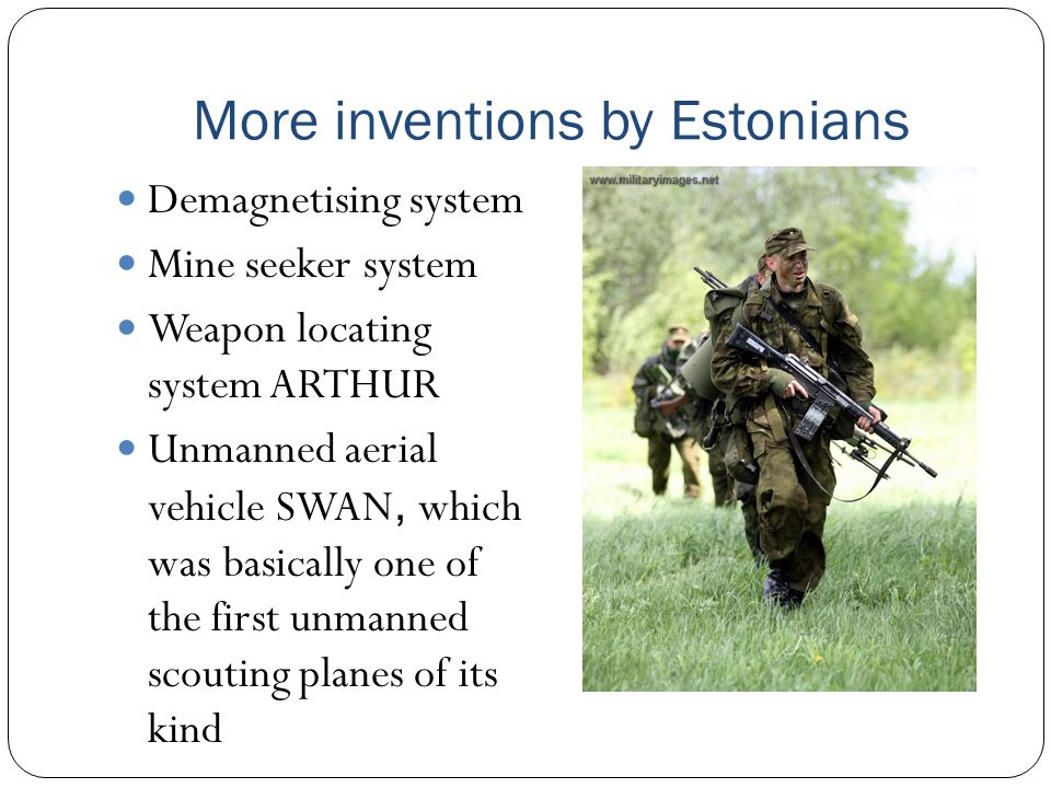 More inventions by Estonians