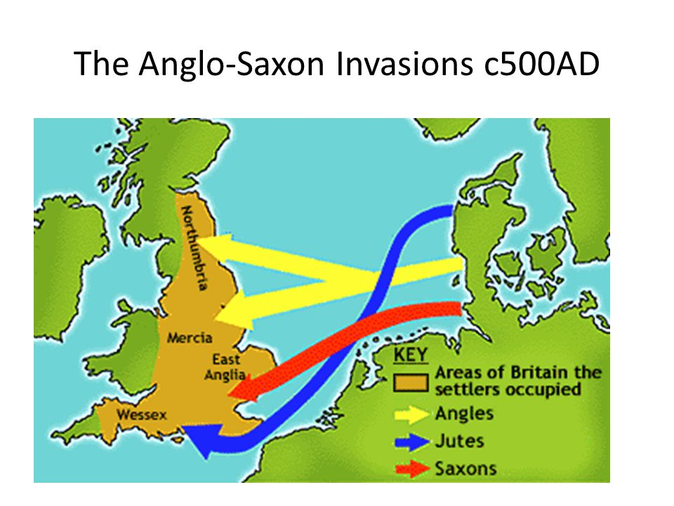 The Anglo-Saxon Invasions c500AD
