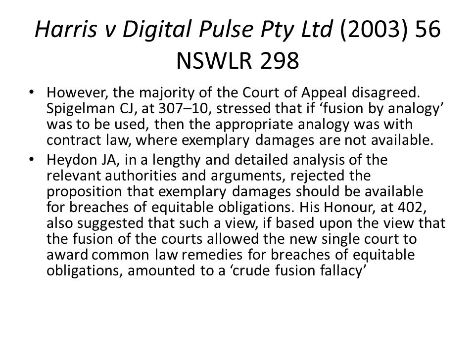 Harris v Digital Pulse Pty Ltd (2003) 56 NSWLR 298