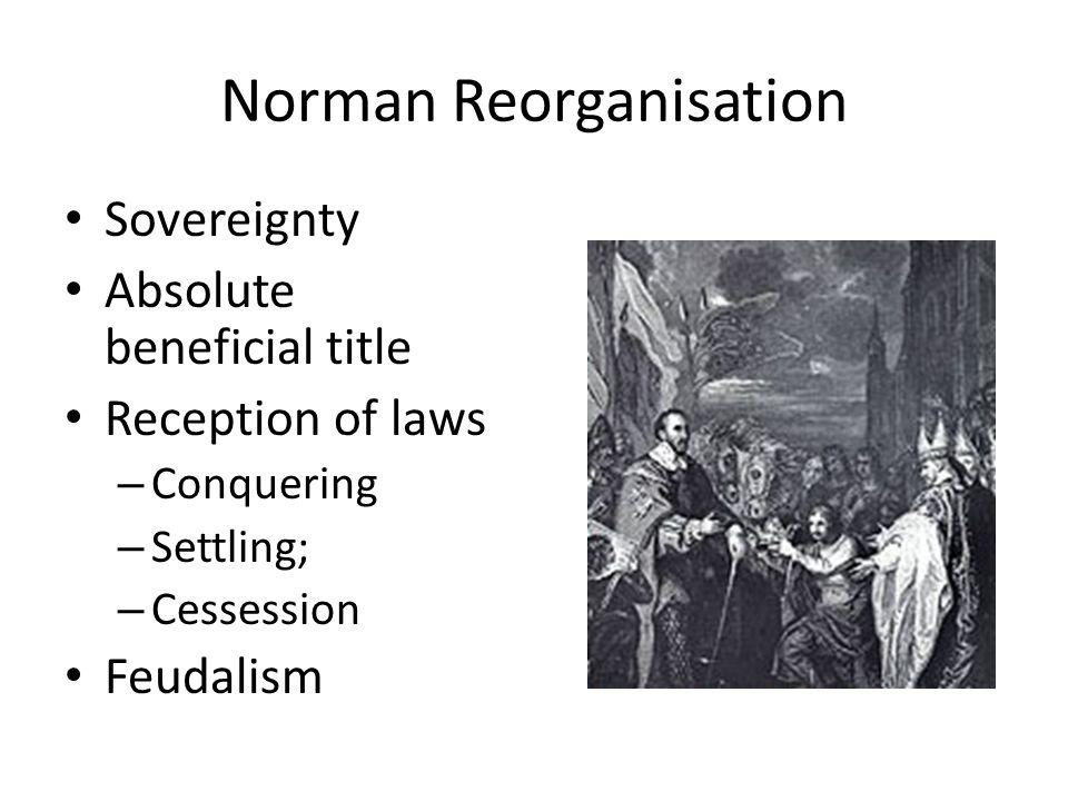 Norman Reorganisation