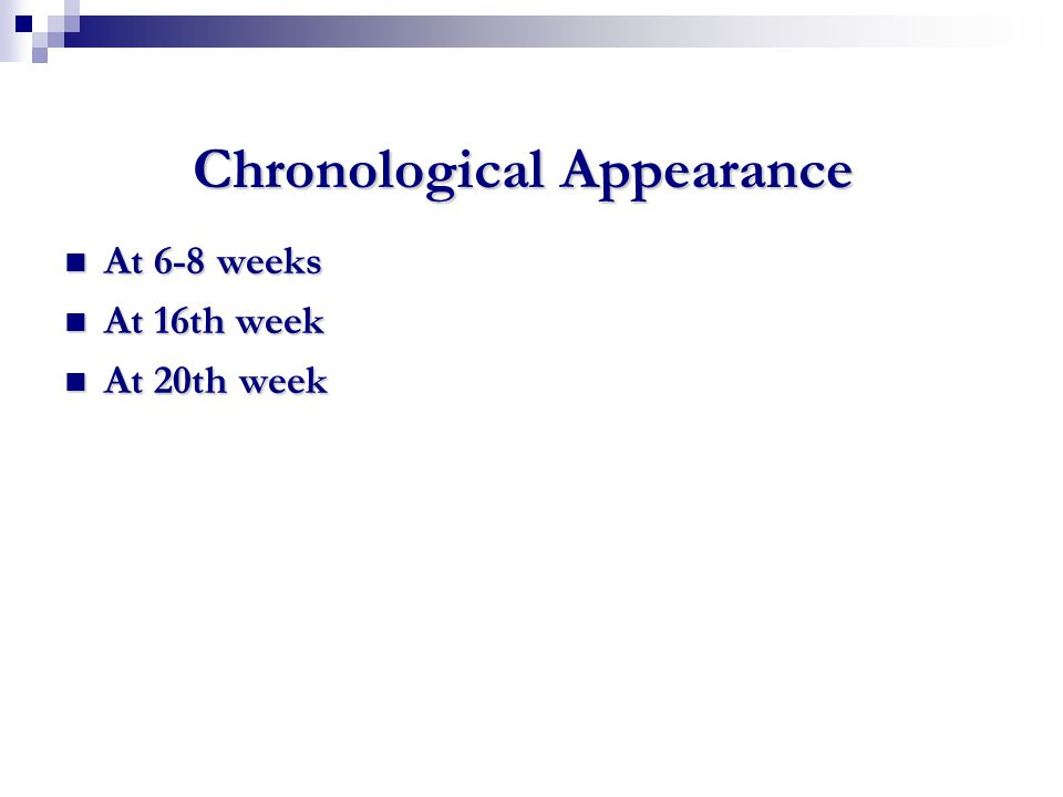 Chronological Appearance