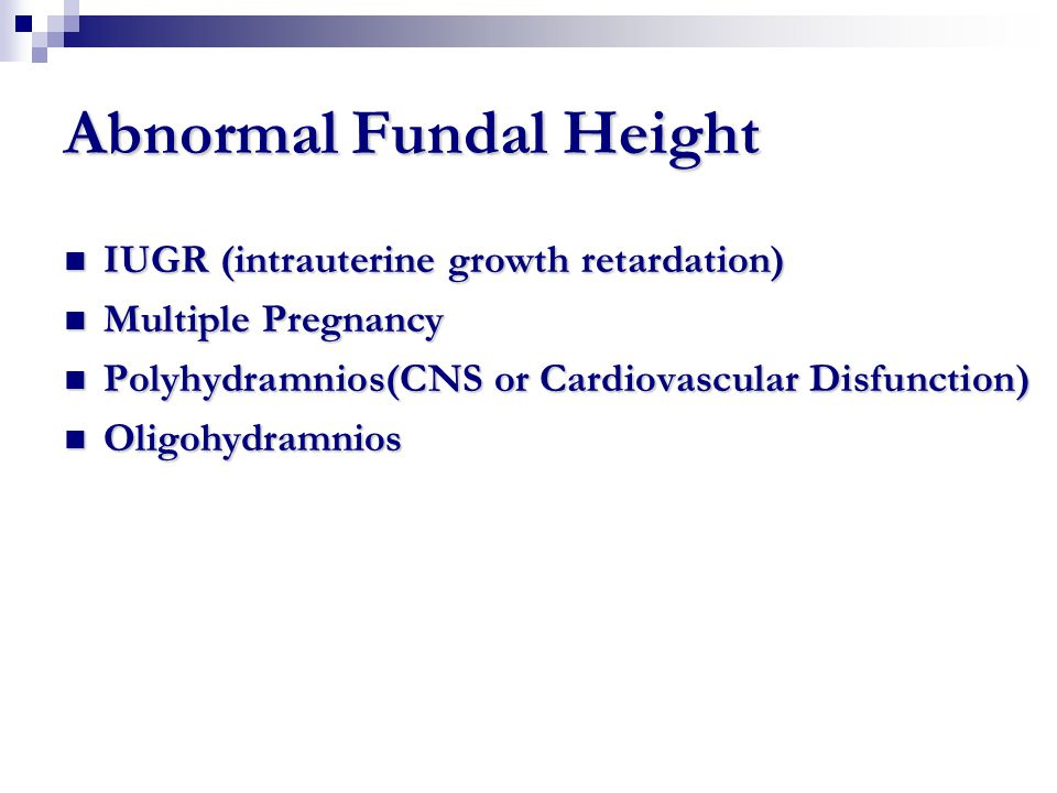 Abnormal Fundal Height