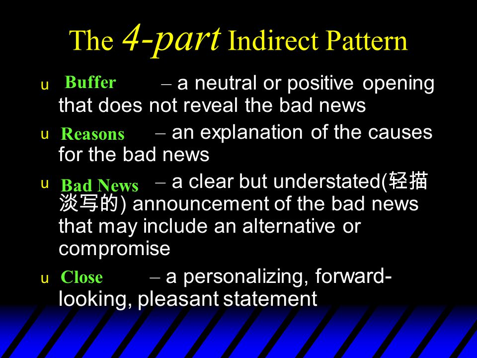 The 4-part Indirect Pattern