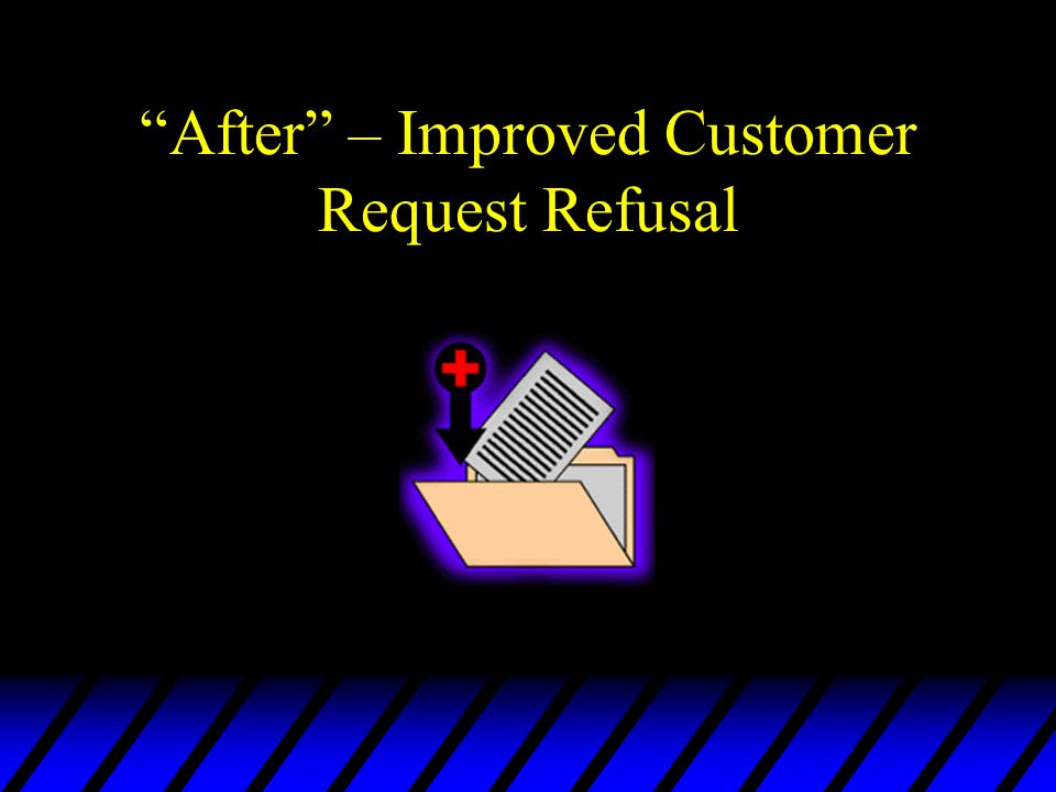 After – Improved Customer Request Refusal
