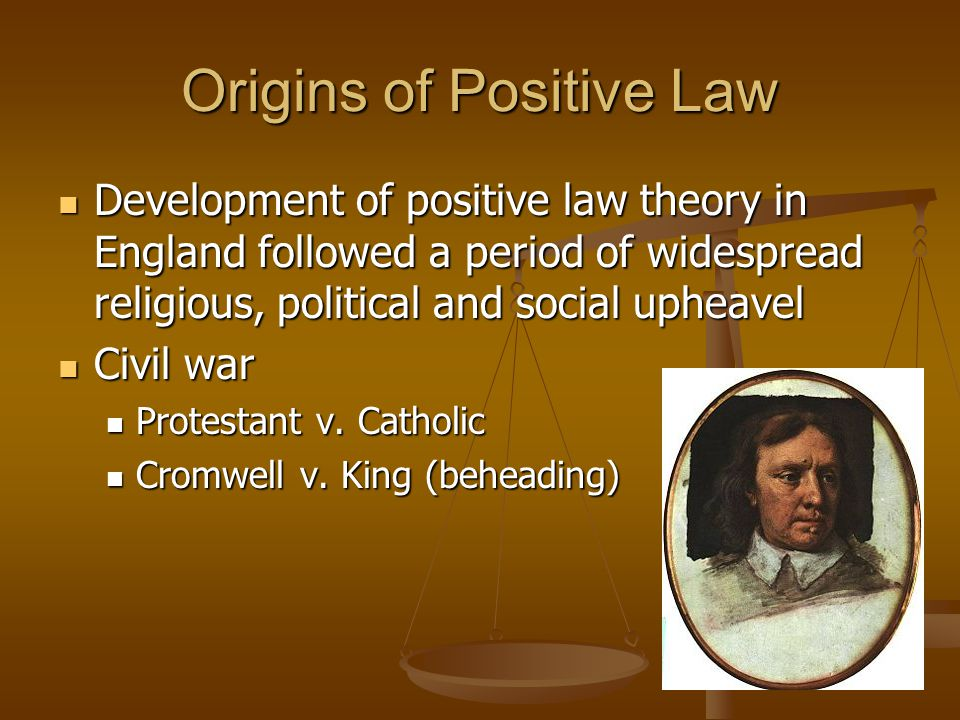 Origins of Positive Law