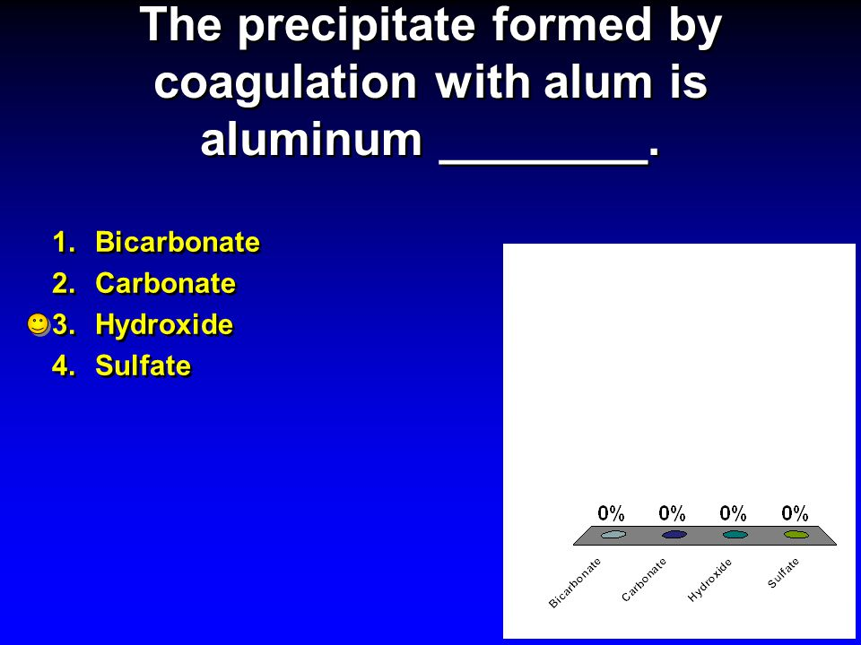 The precipitate formed by coagulation with alum is aluminum ________.
