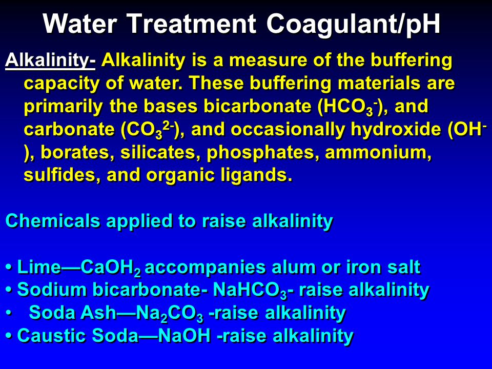 Water Treatment Coagulant/pH