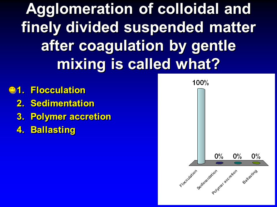 Agglomeration of colloidal and finely divided suspended matter after coagulation by gentle mixing is called what