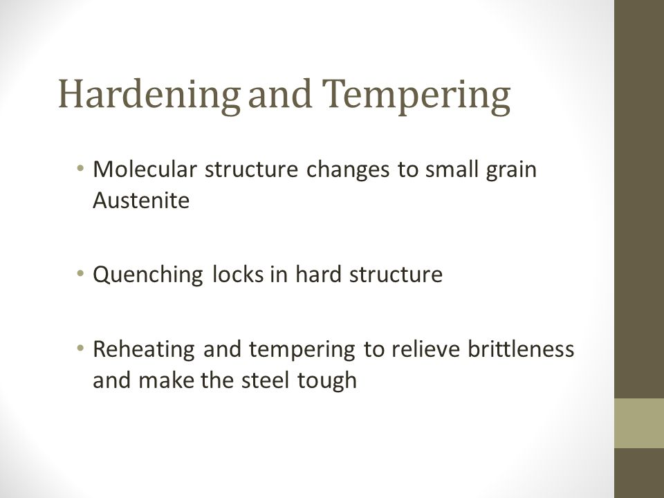 Hardening and Tempering