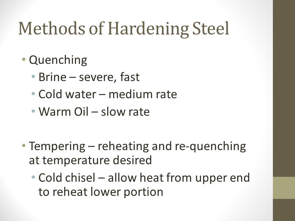 Methods of Hardening Steel