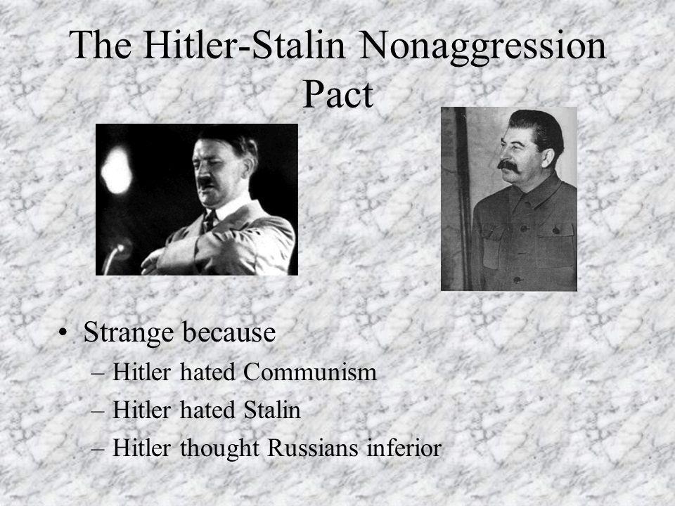 The Hitler-Stalin Nonaggression Pact