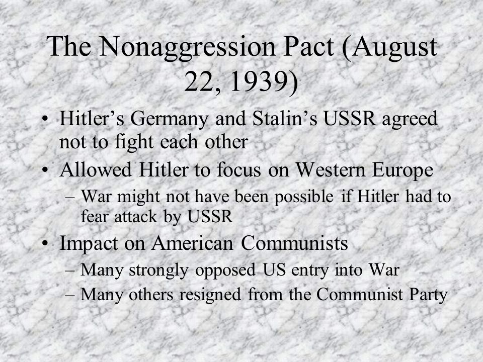 The Nonaggression Pact (August 22, 1939)