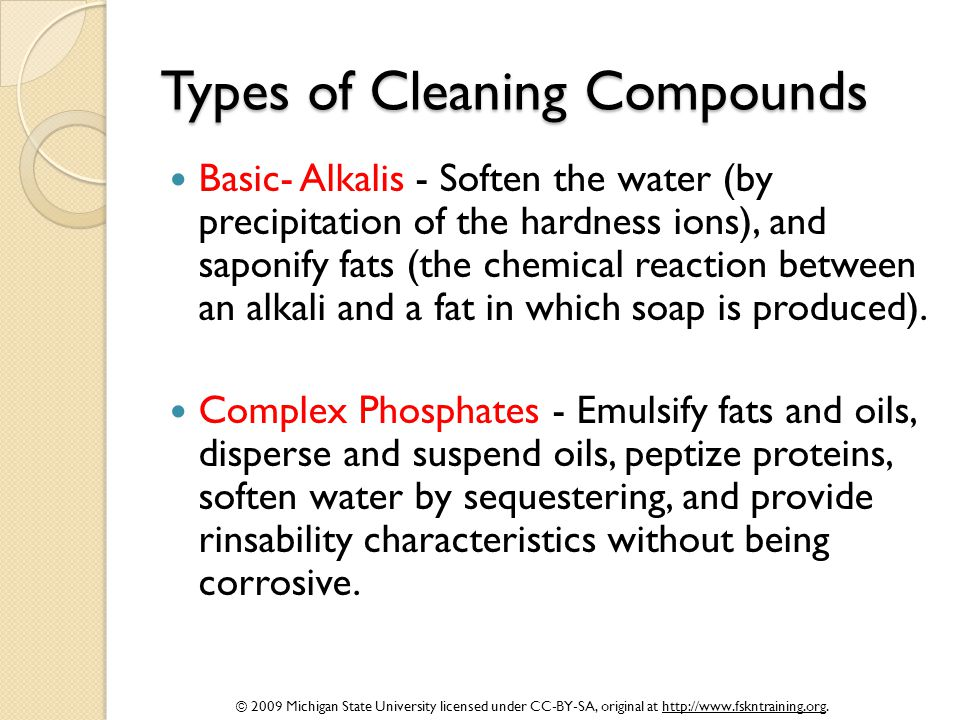 Types of Cleaning Compounds