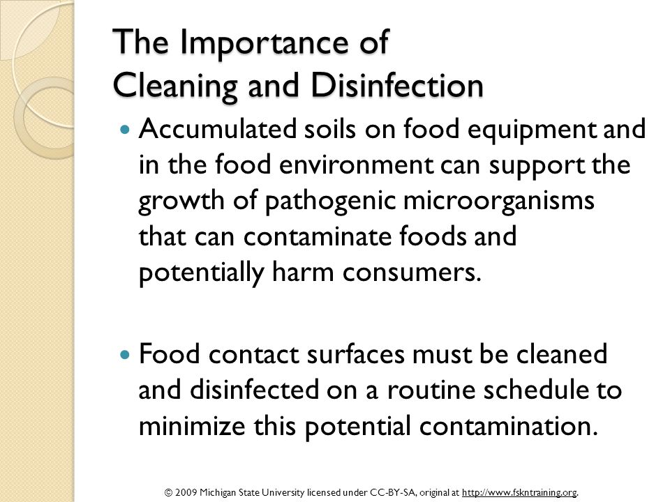The Importance of Cleaning and Disinfection