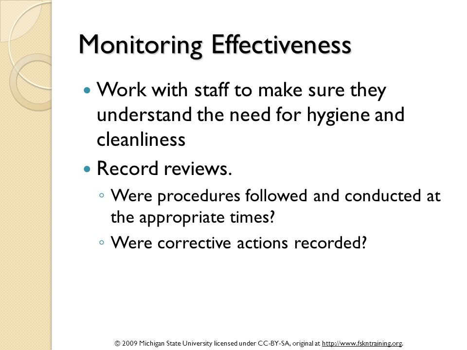 Monitoring Effectiveness
