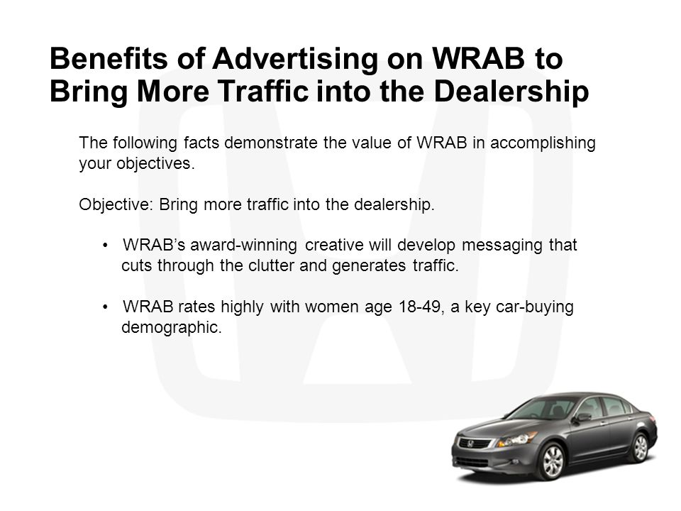 Benefits of Advertising on WRAB to Bring More Traffic into the Dealership