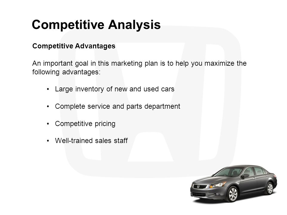 Competitive Analysis Competitive Advantages