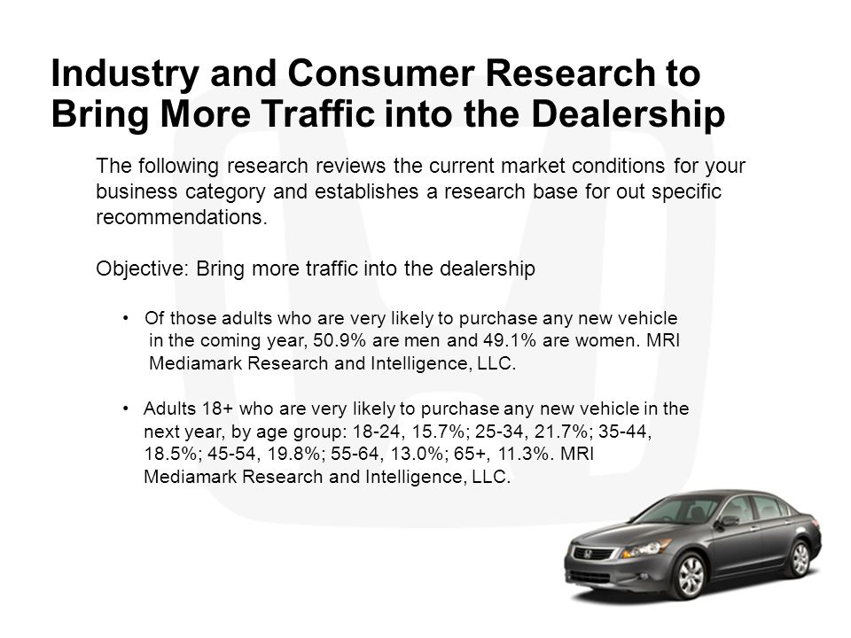 Industry and Consumer Research to Bring More Traffic into the Dealership