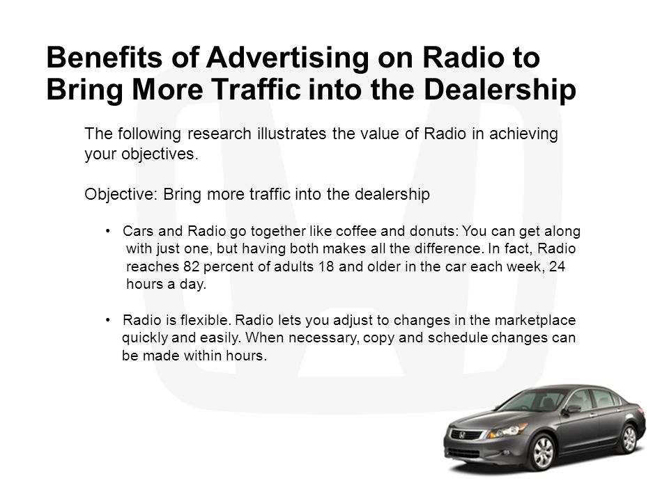Benefits of Advertising on Radio to Bring More Traffic into the Dealership