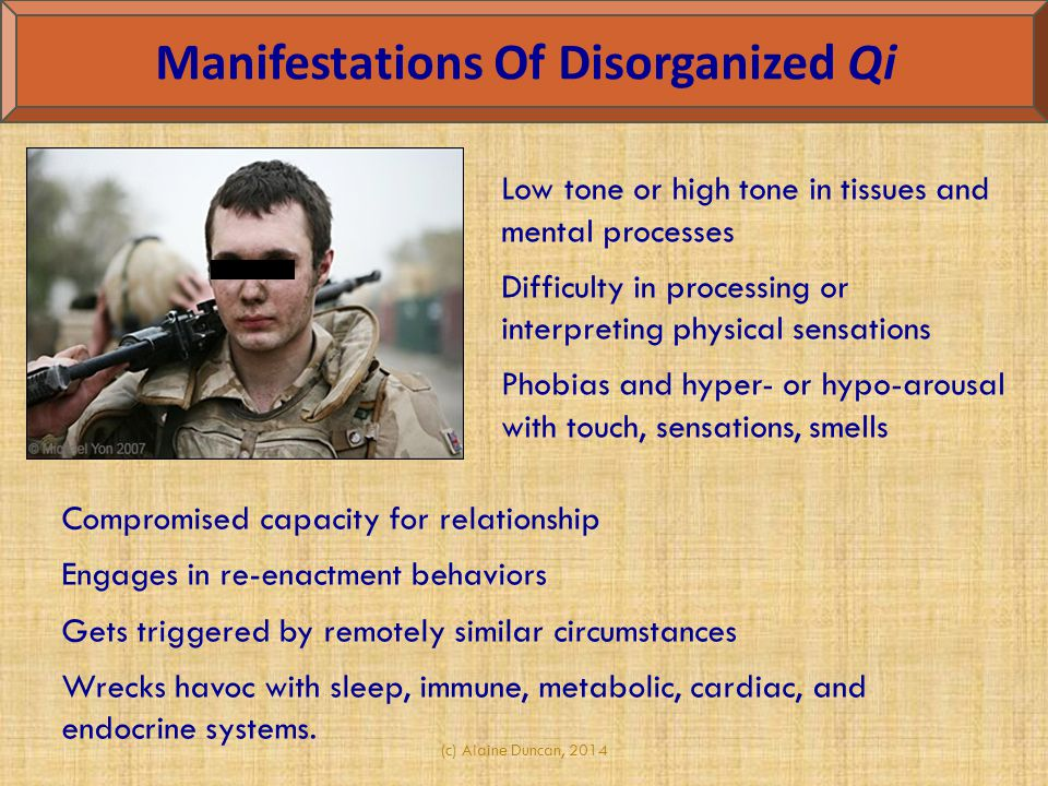 Manifestations Of Disorganized Qi