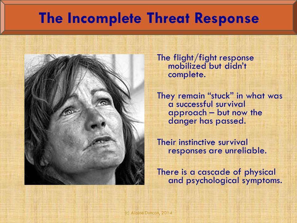 The Incomplete Threat Response