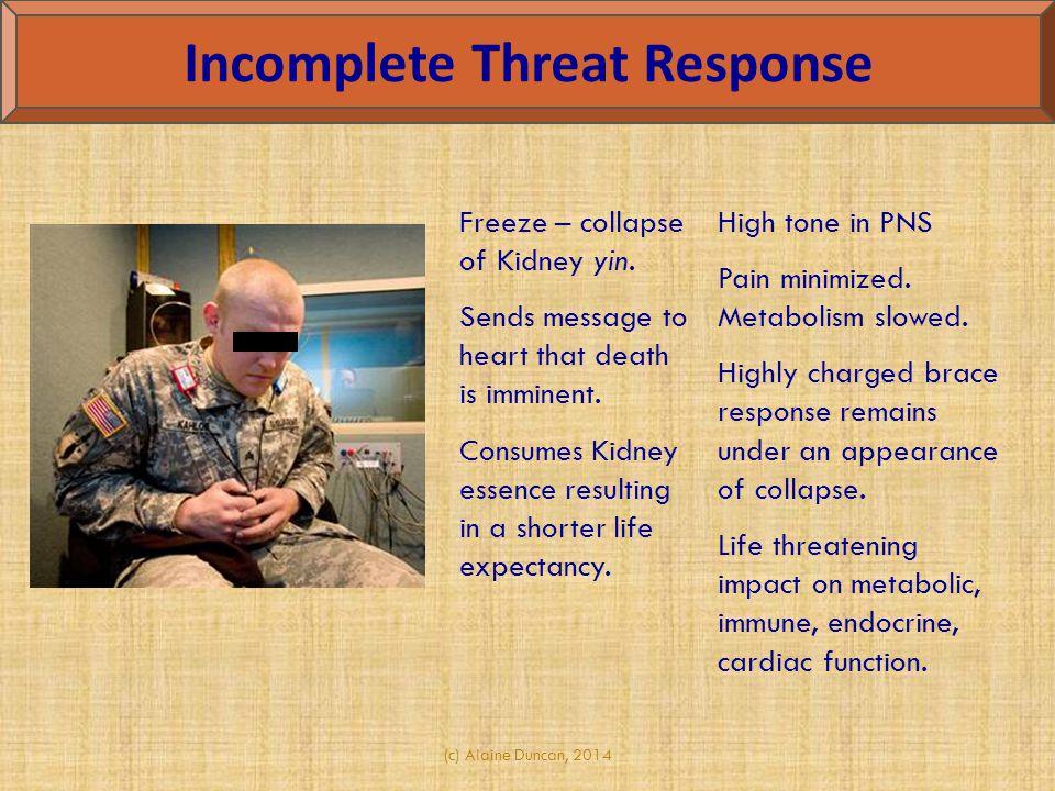 Incomplete Threat Response