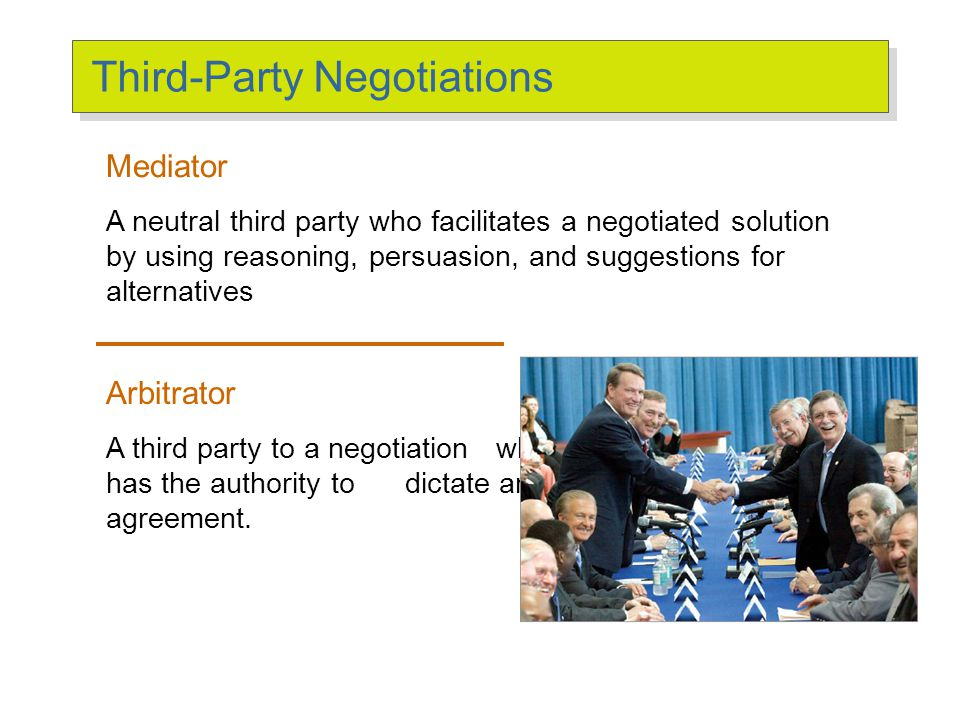 Third-Party Negotiations (cont'd)