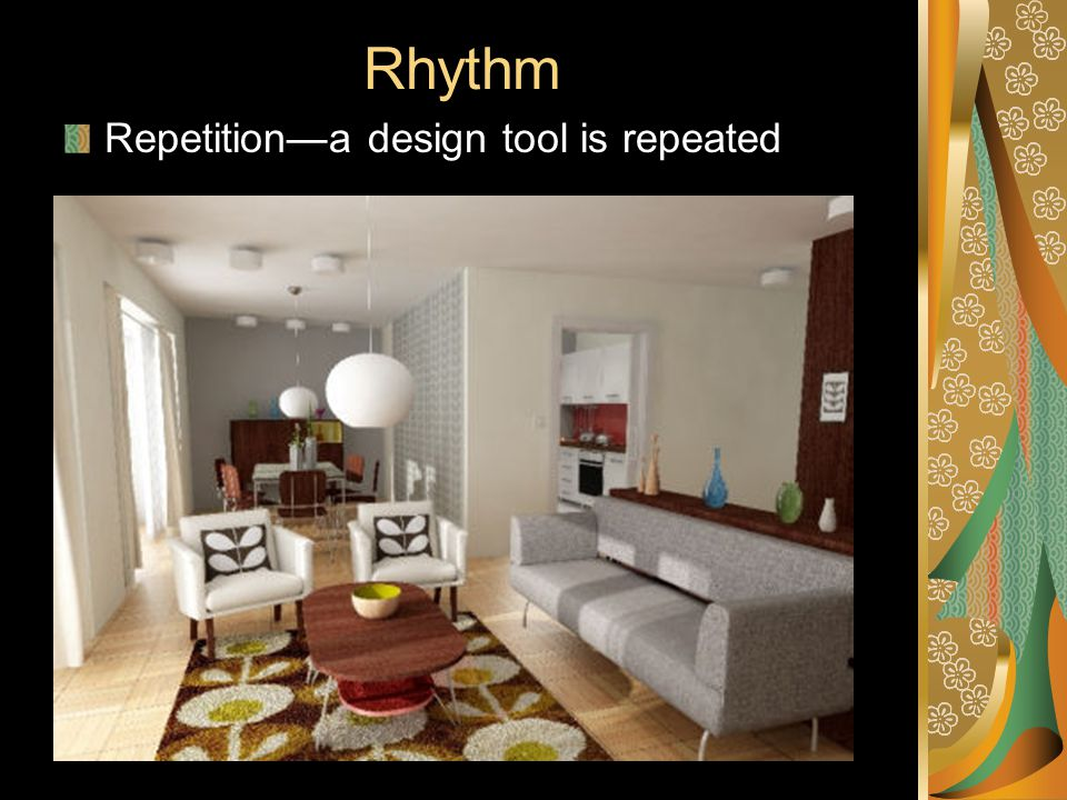 Rhythm Repetition—a design tool is repeated