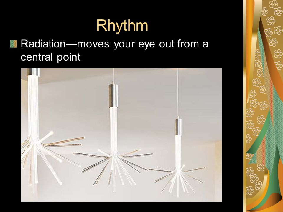Rhythm Radiation—moves your eye out from a central point
