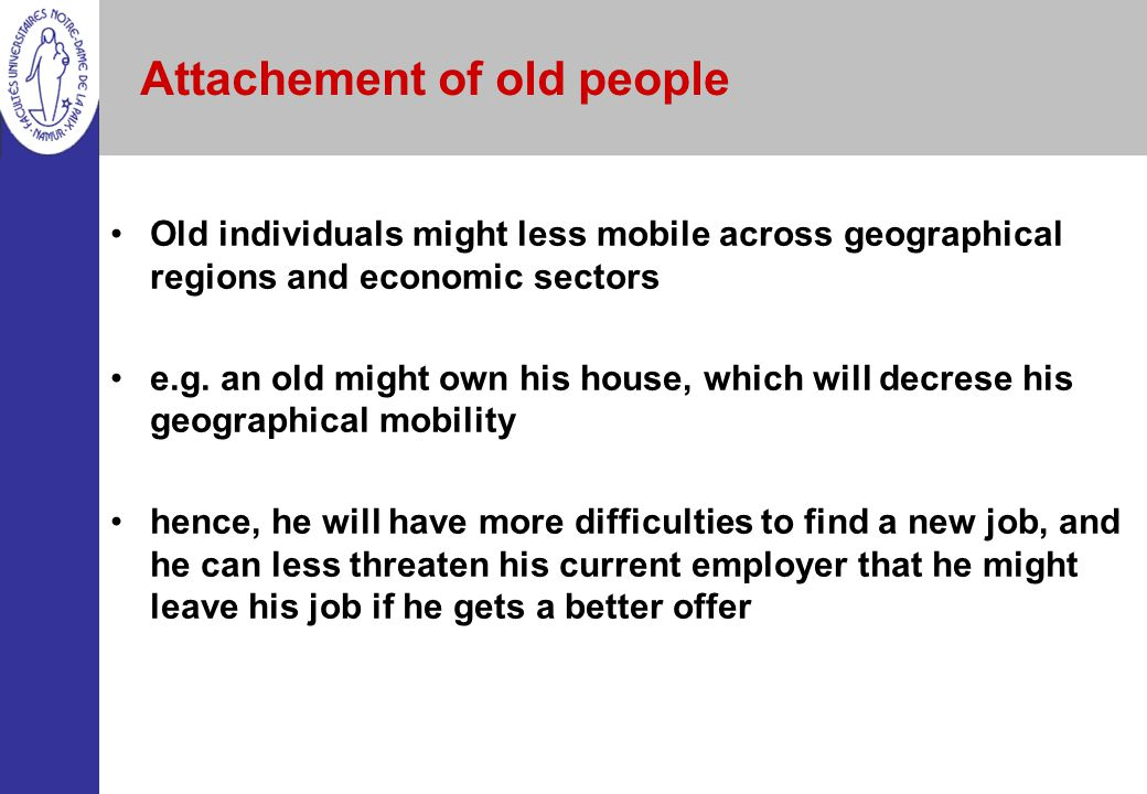 Attachement of old people