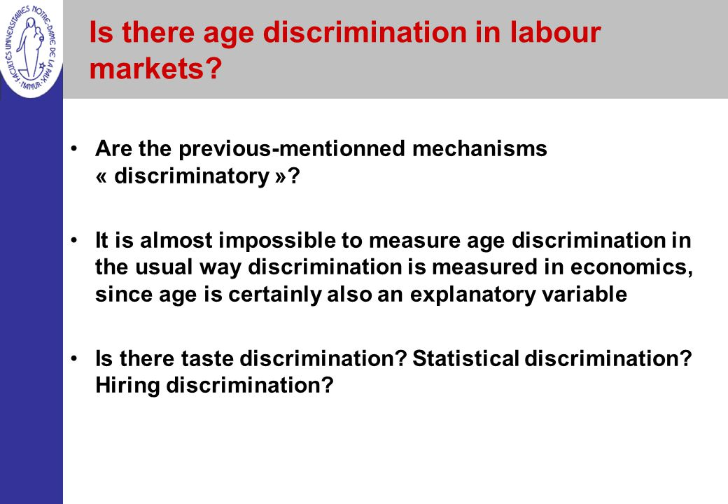 Is there age discrimination in labour markets