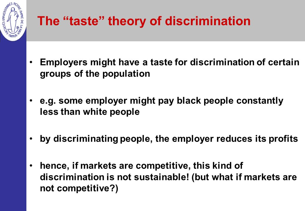 The taste theory of discrimination