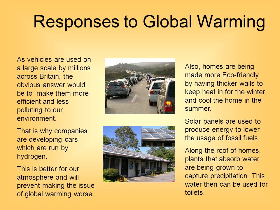Responses to Global Warming