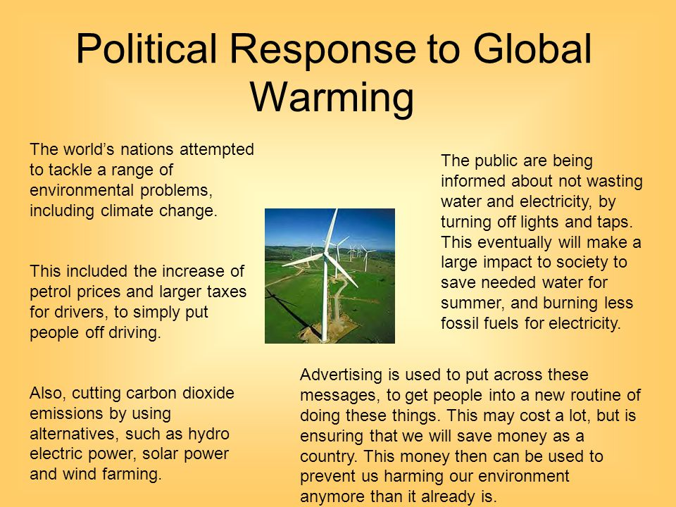 Political Response to Global