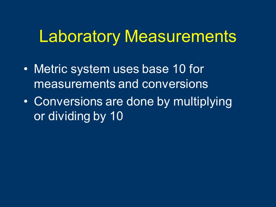 Laboratory Measurements