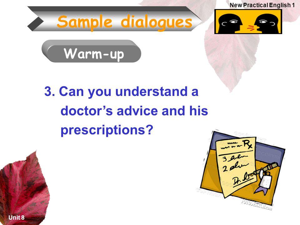 Sample dialogues Warm-up