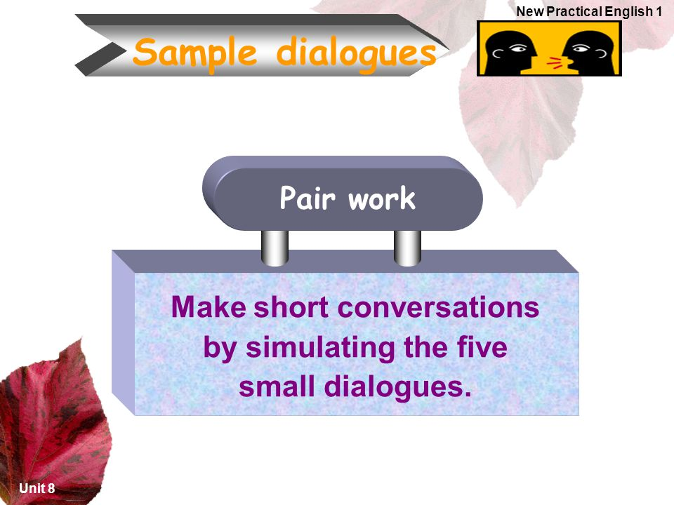 Make short conversations by simulating the five small dialogues.