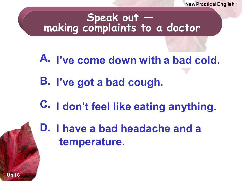 making complaints to a doctor