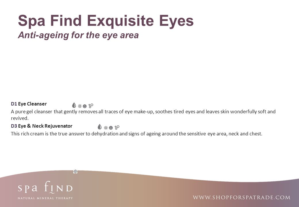 Spa Find Exquisite Eyes Anti-ageing for the eye area