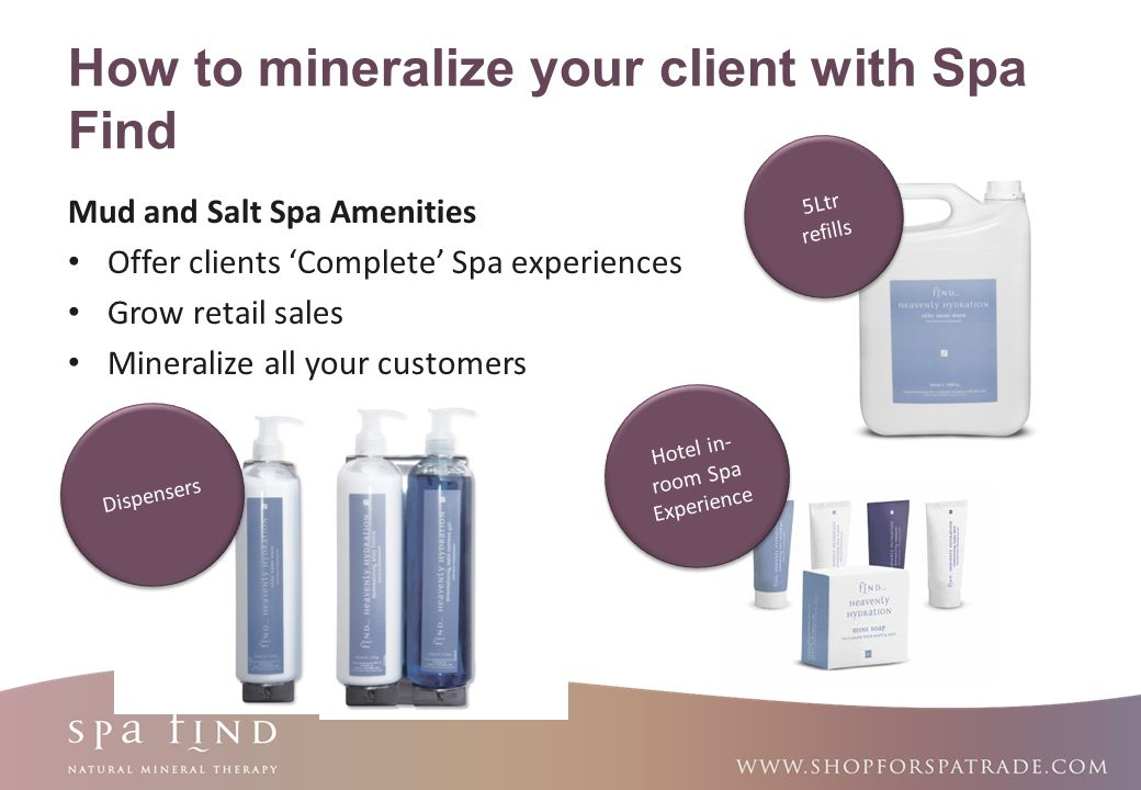 How to mineralize your client with Spa Find