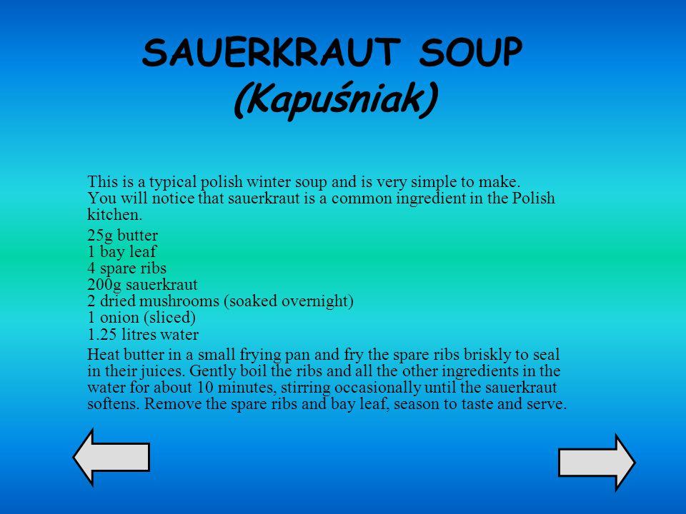 SAUERKRAUT SOUP (Kapuśniak)
