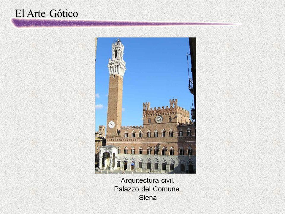 Arquitectura civil. Palazzo del Comune. Siena