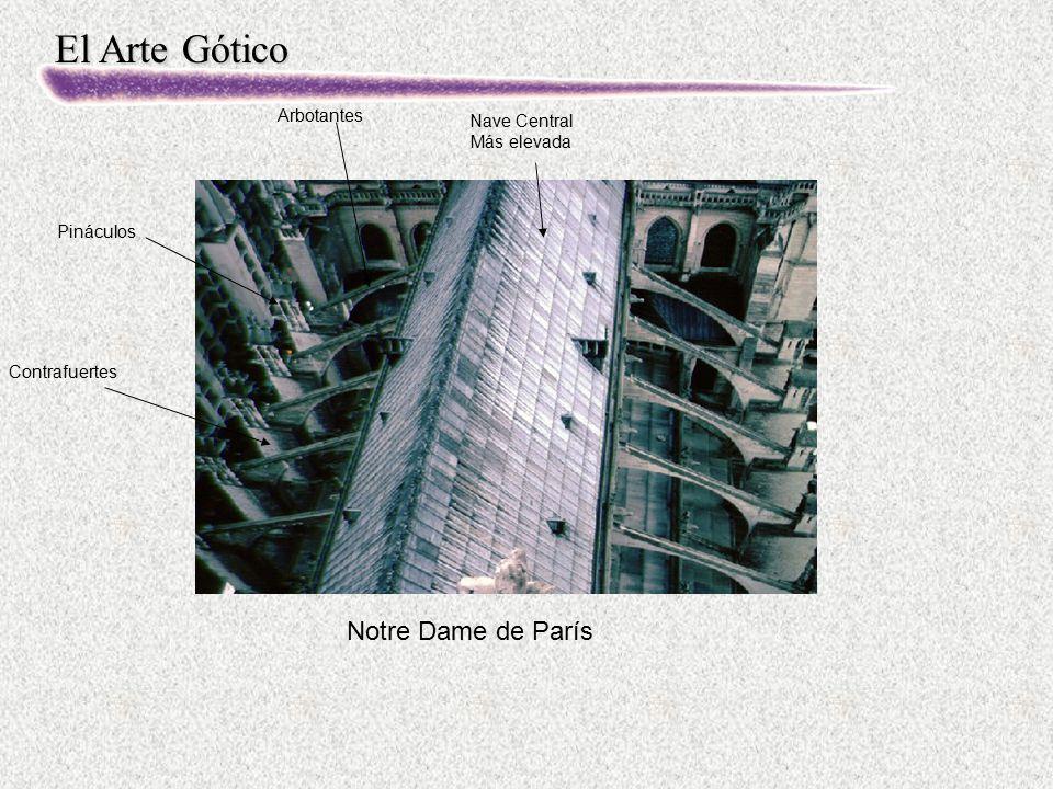 Notre Dame de París Arbotantes Nave Central Más elevada Pináculos