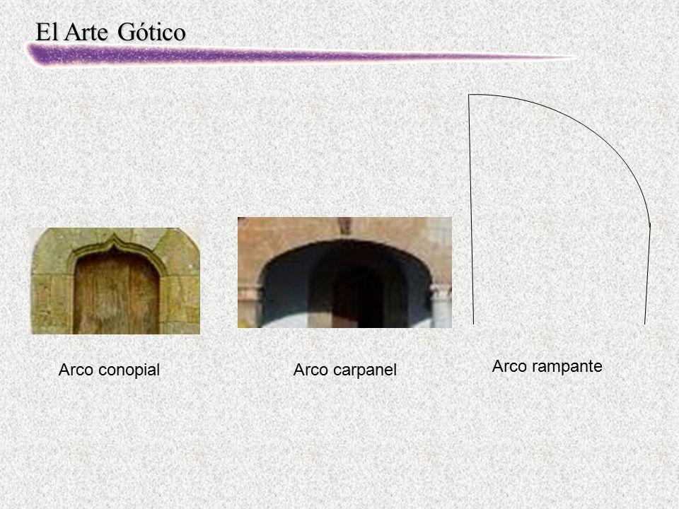 Arco conopial Arco carpanel Arco rampante
